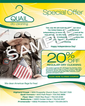 Quail July 4th email sample